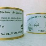 Rillettes de dindon (pâté nature, pâté dindon châtaigne)