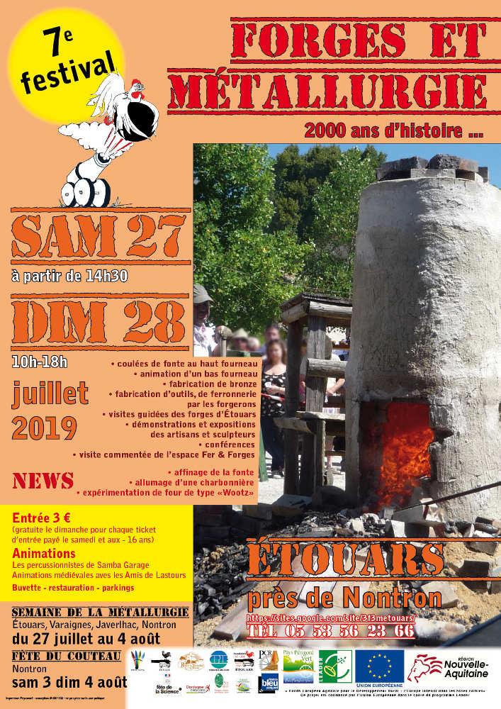 Affiche du 7ème festival forges et métallurgie à Etouars-2019
