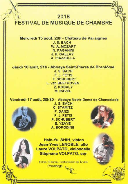 festival de musique de chambre au château de Varaignes