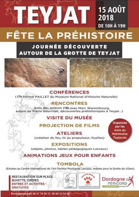 fête de la préhistoire à Teyjat 2018