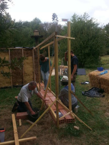 structure en bois stage construction paille