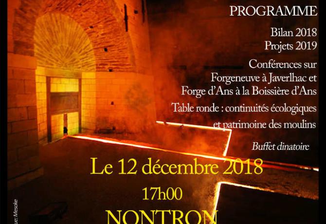 affiche du PCR pour la soirée du 12 décembre 2018
