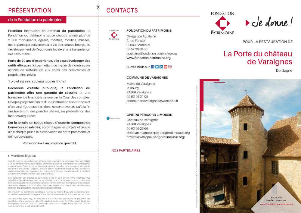 bon de souscription pou la porte du château de Varaignes-1